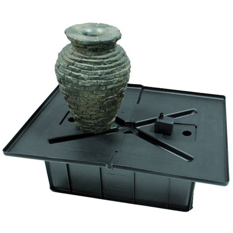 aquascape stacked slate urn fountain kit reviews wayfair