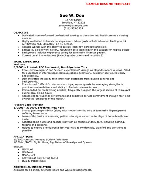 Nursing Assistant Resume Qualifications Cna Sle Resume Student Resume Template Student Resume Template
