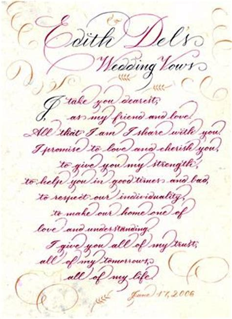 Wedding Vows For Him by Wedding Vow Sles Wedding Vows Wedding
