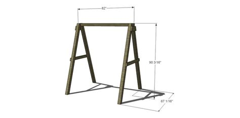 a frame swing plans free free swing plans dimensions woodworking projects plans