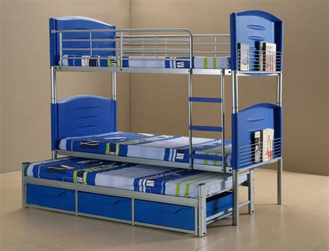 Bunk Beds With Three Beds Cheap 3ft Single Children S Darcy Bunk Bed Frame And 3 Free Mattresses Ebay