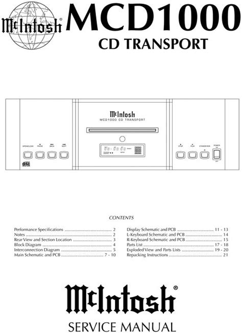 format c vista zonder cd mcintosh mcd 1000 original service manual pdf format