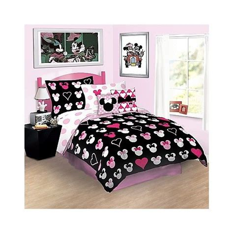 minnie mouse bedding full reversible love minnie mouse comforter bedding disney