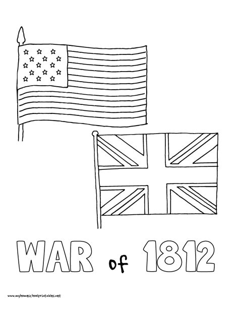 revoltionary war colonial flag and blue coat coloring page