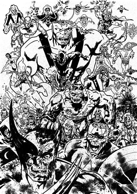 coloring pages of marvel zombies marvel zombies by tomcrielly on deviantart