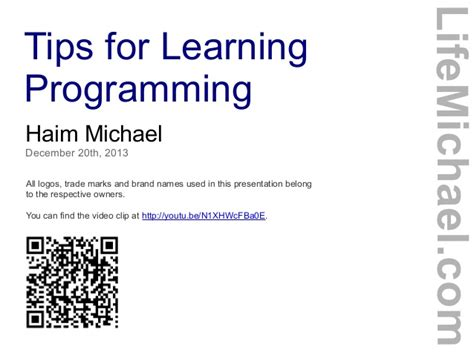 tips for learning programming