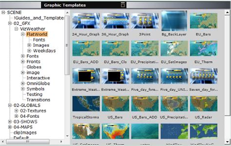 Working With Graphics Templates Viz Weather User S Guide Vizrt Documentation Center Weather Graphics Template