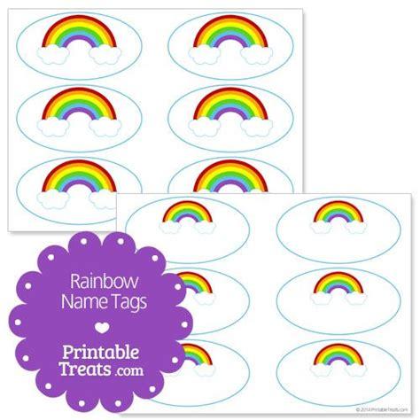 printable name tags pinterest free printable rainbow name tags preschool nanny ideas