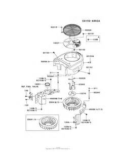 kawasaki fh381v cs28 4 stroke engine fh381v parts diagram for cooling equipment