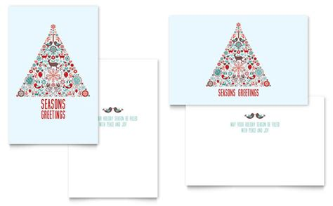 half fold card template publisher greeting card template design