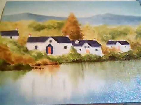 bob ross painting montage lakeside homes bob ross style painting