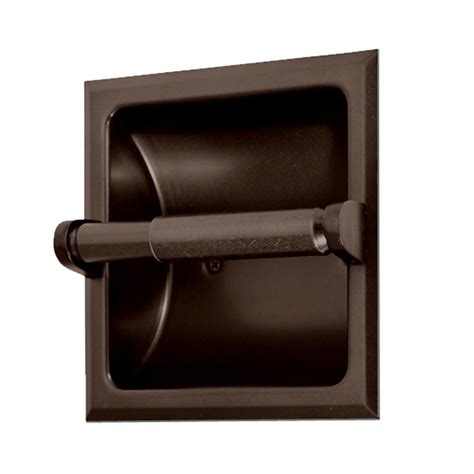 gatco recessed toilet paper holder  bronze   home depot