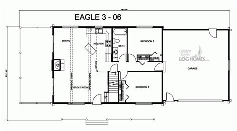 golden eagle log and timber homes floor plan details e3 06
