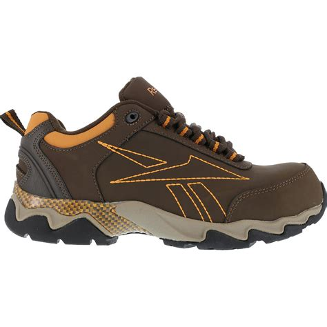 Reebok Beamer Safety Shoes s brown composite toe work athletic shoe reebok beamer