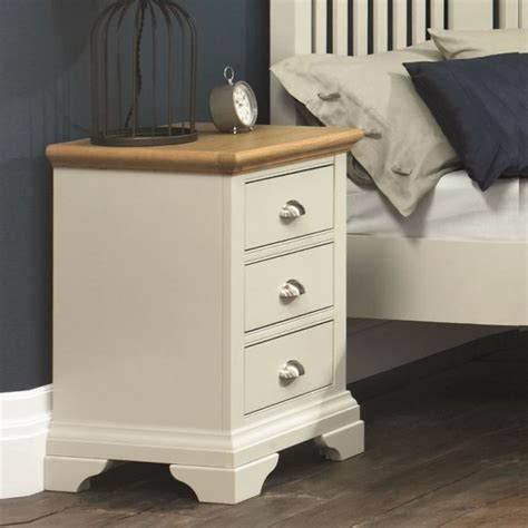 neve soft grey and weathered hstead soft grey and oak bedside chest