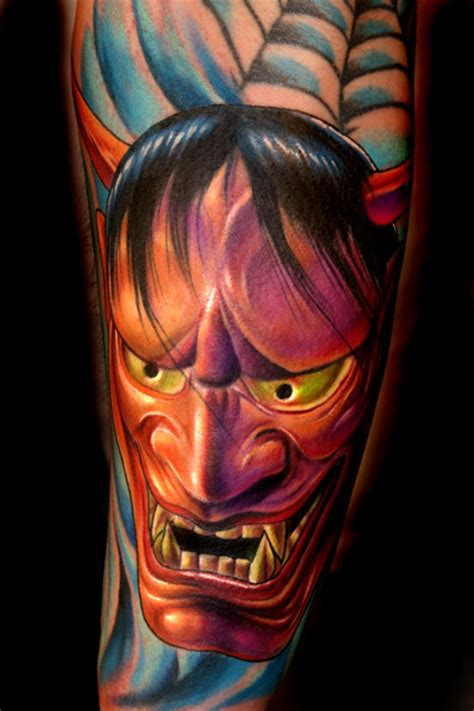 realistic hannya mask tattoo deep six laboratory tattoos page 3 hanya