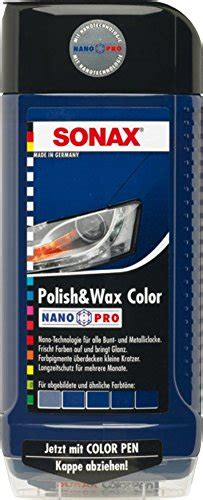 Polieren Wortherkunft by Sonax 296200 Polish Wax Color Nanopro Blau 500ml