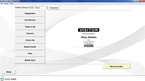 pattern visitor exle shareware4u lobby track free visitor management software