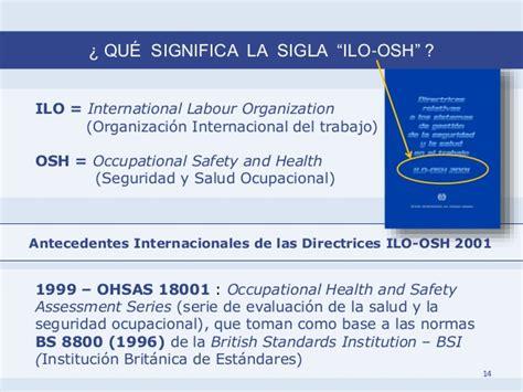 seguridad y salud en el trabajo iloorg el sistema de gesti 243 n de la seguridad y la salud en el
