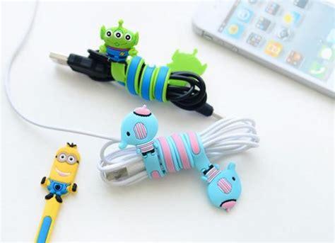Cord Holder Cable Clip Penjepit Kabel Karakter Lucu Murah cable clip silicone model kartun blue jakartanotebook