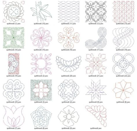 Quilting Designs For Embroidery Machine by Quilting Lines V 6 Ld Machine Embroidery Designs