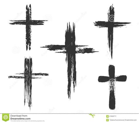brush painted cross icons stock vector image of christian
