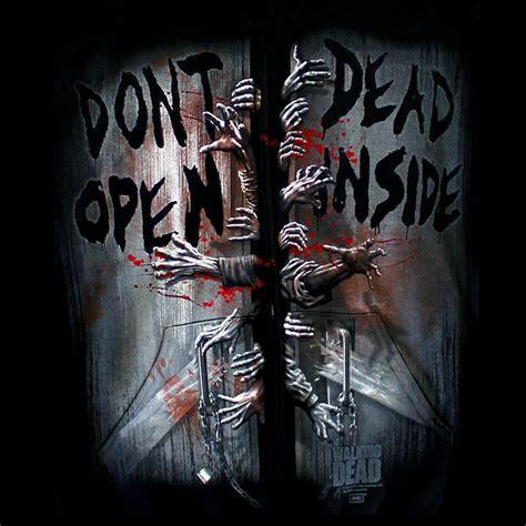 Kaos The Walking Dead Dont Open Dead Inside Putih 1 bikerornot store the walking dead don t open dead