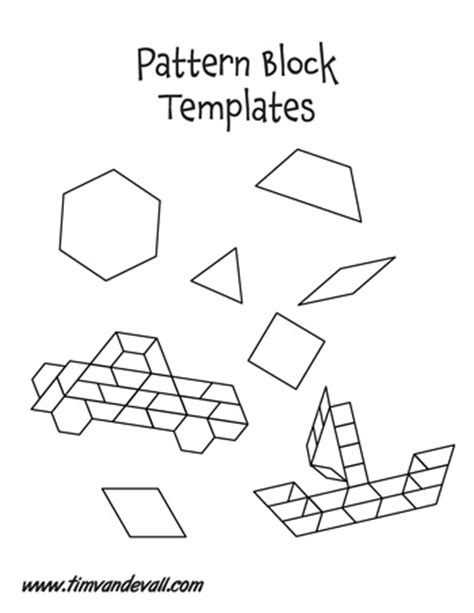 pattern block templates tim de vall comics printables for