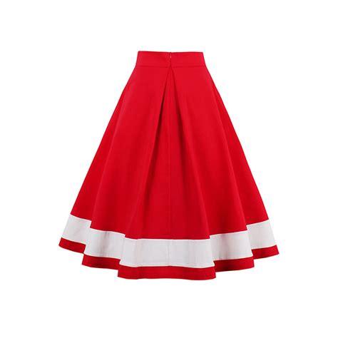 swing skirts for sale hot sale red high waist swing midi women s skirt n14252