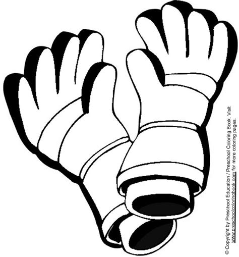 coloring pages winter gloves free coloring pages of gloves