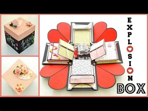How To Make Birthday Gifts Out Of Paper - valentines day exploding box kalpl箘 kutu yapimi