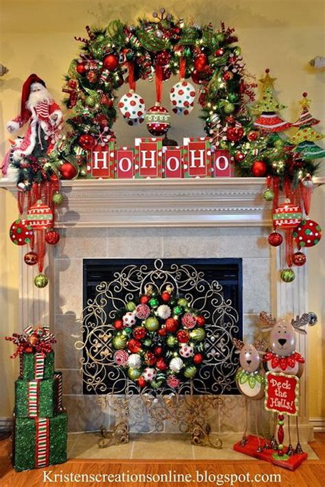 decorate fireplace mantel for christmas decorating ideas