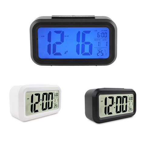 Led Light Backlight Alarm Clock With Temperature 510 digital backlight clock time date temperature display mini portable led alarm clock repeating