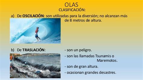 olas oscilacion y traslacion diapositivas de geografia