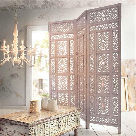 paravent schlafzimmer paravent quot marokko quot aus holz wei 223 paints and colours