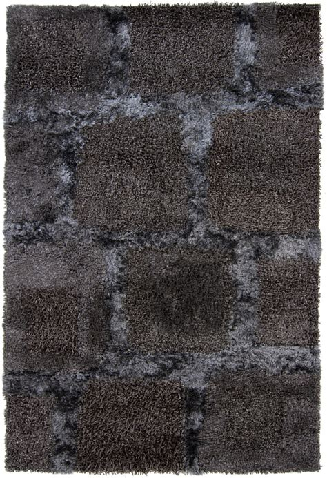 charcoal shag rug shag rugs baj grey charcoal 7 9 quot x 10 6 quot polyester at rugsandblinds