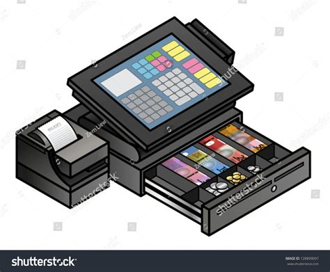 Open Drawer Without Receipt Printer by A Slim Profile Touchscreen Point Of Sale Terminal With A