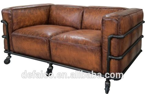 loft style sofa loft style water pipe frame living room leather sofa sets
