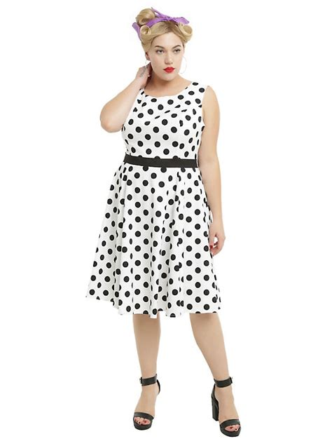 plus size white swing dress white black polka dots swing dress plus size hot topic