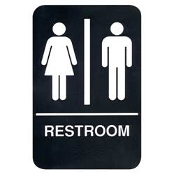 bathroom signs braille restroom sign