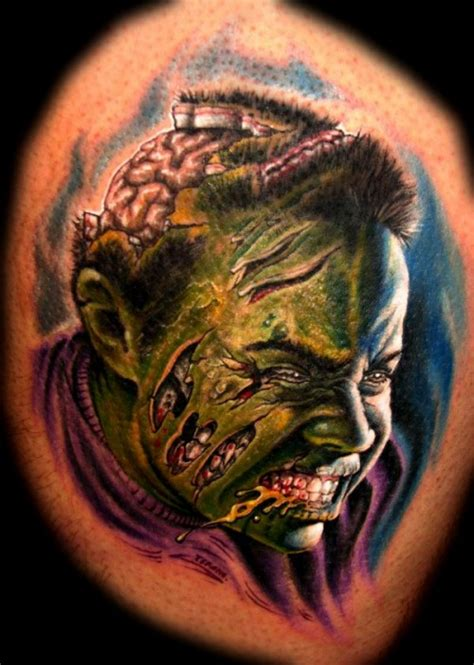 tattoo zombie pictures 20 gruesome zombie tattoos damn cool pictures