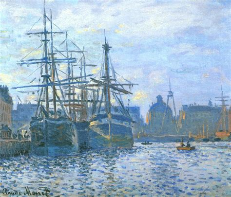 boat basin defined the havre the trade bassin 1874 claude monet wikiart org