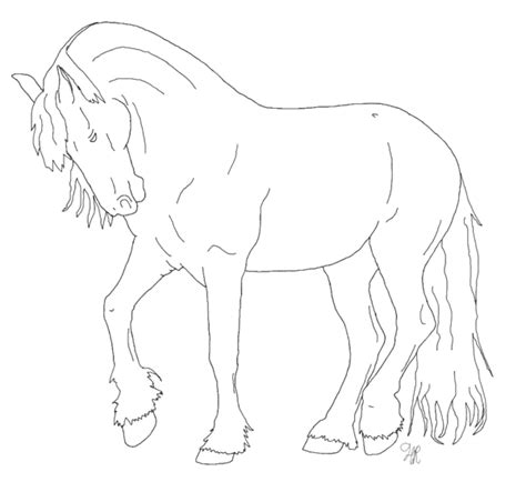 coloring pages of friesian horses friesian coloring pages freecoloring4u com
