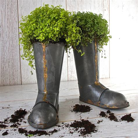Garden Boot Planter by Pair Of Wellington Boot Planters By Garden Trading