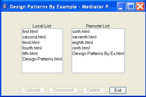 design pattern java exle code design patterns by exle in java mediator pattern