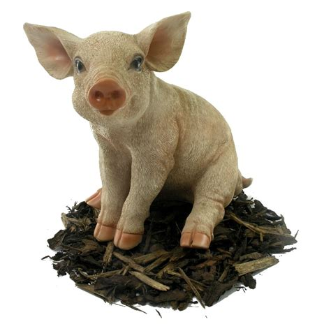 sitting piglet pig resin garden ornament