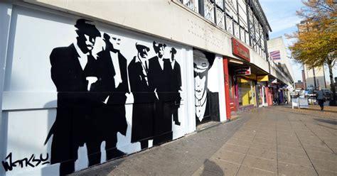 banksy style peaky blinders mural  appeared