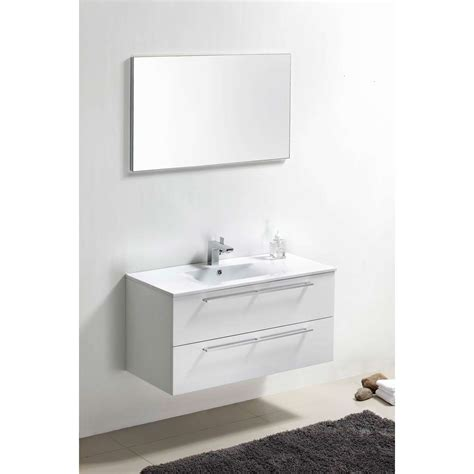 wall bathroom vanity buy caen 40 inch wall mount modern bathroom vanity set