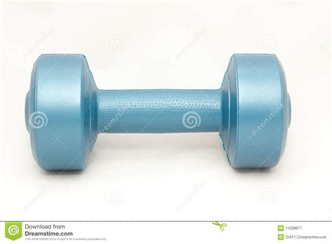 Dumbell Plastic one blue plastic dumbbell royalty free stock photography image 11228877