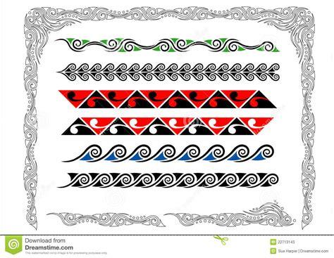 maori koru borders stock photos image 22713143